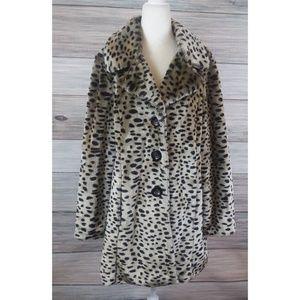 Jackets & Blazers - SO SOFT MEOW Leopard Faux Fur Coat M